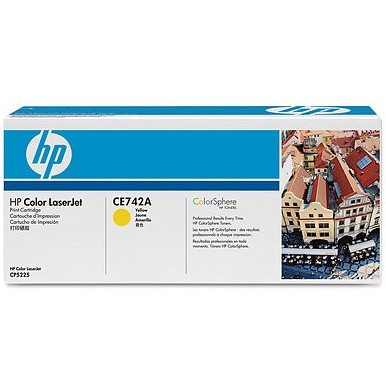 Toner laser HP CE742A - yellow, 7300 pag, LaserJet CP5225