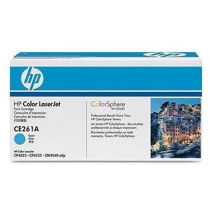 Toner laser HP CE261A - cyan, 11.000 pag, CP4525