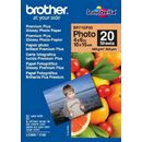 Hartie foto Brother BP71GP20 Premium Plus - 4 x 6 inch, lucioasa, 20 coli