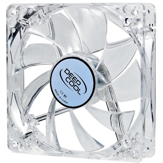 Ventilator Deepcool Xfan 120L/R Clear 120mm, LED rosu