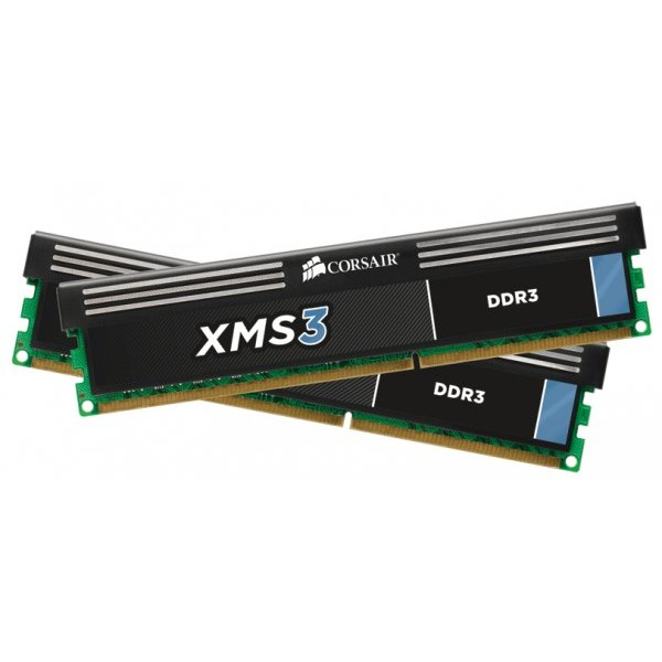 Memorie XMS3 8GB DDR3, 1600MHz, dual channel, CL9