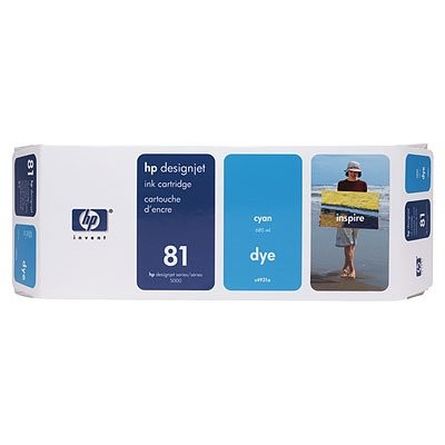 HP 81 Dye Cyan Ink Cartridge C4931A