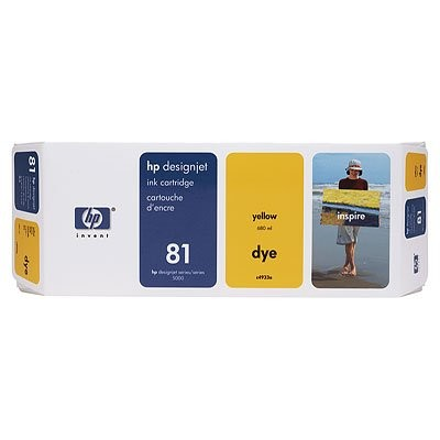 81 Yellow Ink Cartridge(C4933A) thumbnail