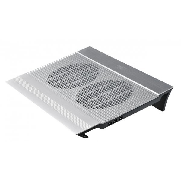 Cooler notebook DeepCool N8, 17 inch, aluminiu, 4 x USB