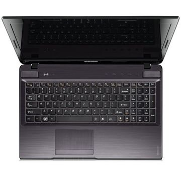 Notebook Lenovo IdeaPad Z570Am, Intel Core i5-2430M, 2.40GHz, 4 GB, 750 GB, Negru-argintiu