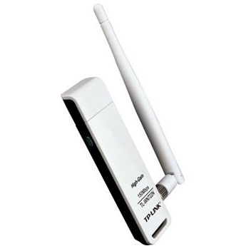 Adaptor wireless TP-Link TL-WN722N, 150Mbps, Antena detasabila