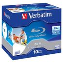 Verbatim BluRay BD-R[ jewel case 10 | 25GB | 6x | PRINTABLE SURFACE HARD COAT ]