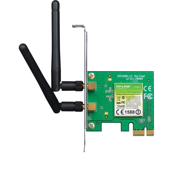 Placa de retea Wireless TP-Link TL-WN881ND, PCI 300Mbps, 2 antene thumbnail