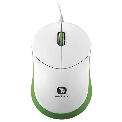 Mouse mini Seria Rainbow 680, 1000dpi, alb / verde