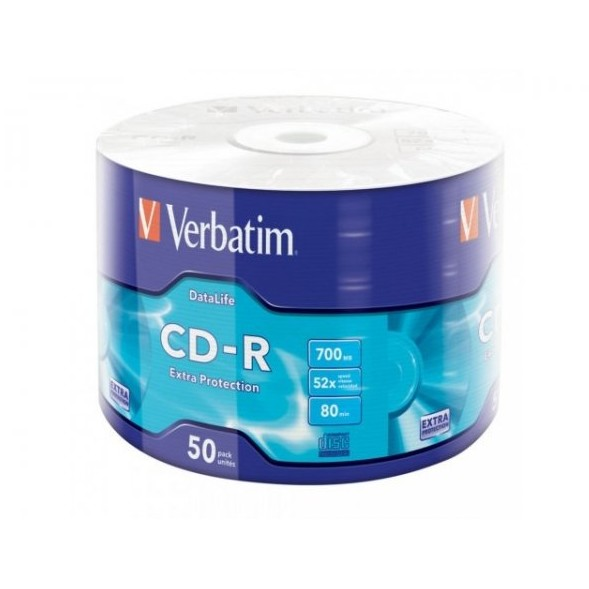 CD-R Verbatim 700MB 52x shrink 50 buc
