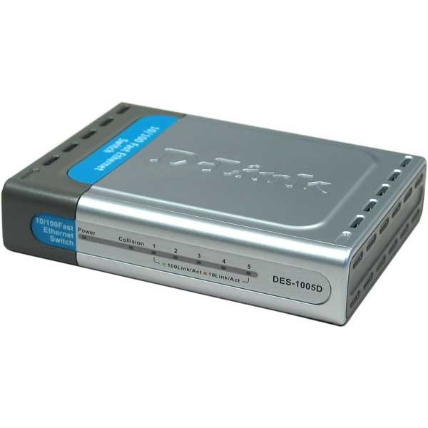 Switch DES-1005D - 5 ports, 10/100Mbps
