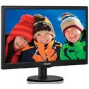 Monitor LED Philips 203V5LSB26, 19.5 inch, 1600 x 900 px, negru