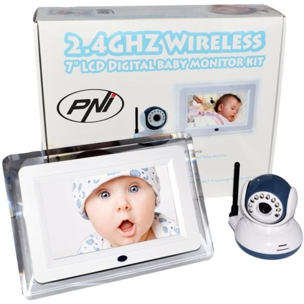 Video Baby Monitor PNI B7000 ecran 7 inch wireless thumbnail