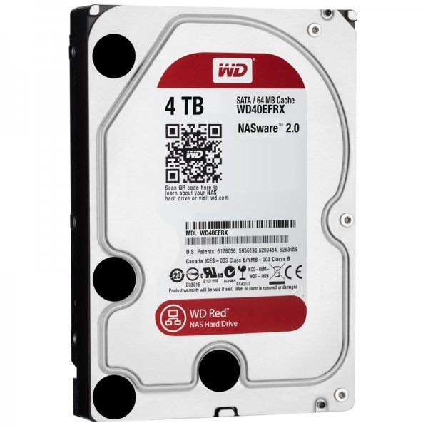 Hard disk WD40EFRX Red 4TB, SATA3, NAS HDD, 64MB