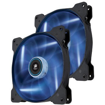 Ventilator Corsair AF120 Quiet Edition, 12cm, LED albastru, 2 bucati