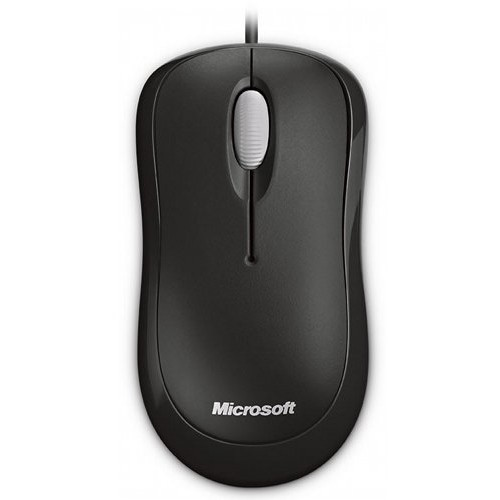 Mouse Basic, Wired, Optic, PS2/USB, Negru