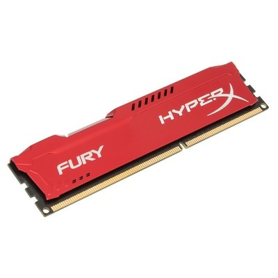 Memorie HX316C10FR/4, HyperX Fury Red 4GB DDR3, 1600MHz, CL10
