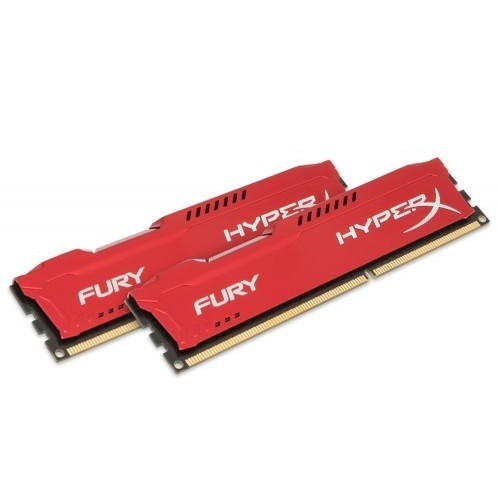 Memorie HX316C10FRK2/16, HyperX Fury Red 16GB DDR3, 1600MHz, Dual Channel