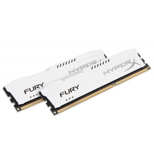 Memorie HX316C10FWK2/16, HyperX Fury White 16GB DDR3, 1600MHz, Dual Channel