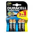 DURACELL Baterie Turbo Max AA LR06 3+1 gratis