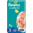 PAMPERS Scutece 3 Active Baby 3 Midi Value Pack 62 buc