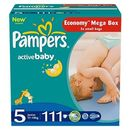 PAMPERS Scutece Active Baby 5 Junior Mega Pack 111 buc