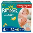 PAMPERS Scutece Active Baby 4 Maxi Mega Pack 132 buc