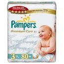 PAMPERS Scutece Premium Care 3 Midi Jumbo Pack 80 buc
