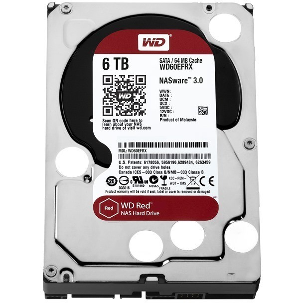 Hard disk NAS drive RED 6TB WD60EFRX, 3.5 inch