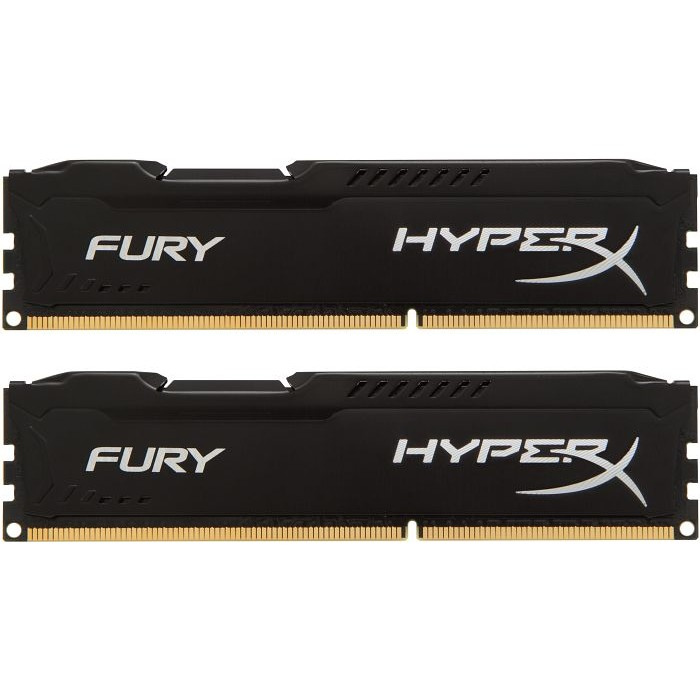 Memorie HyperX Fury Black HX318C10FBK2/16, 16GB DDR3 1866MHz, Dual Channel