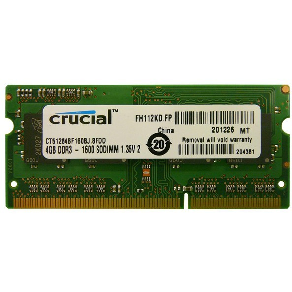 Memorie laptop CT51264BF160BJ, SODIMM 4GB DDR3 1600MHz CL11