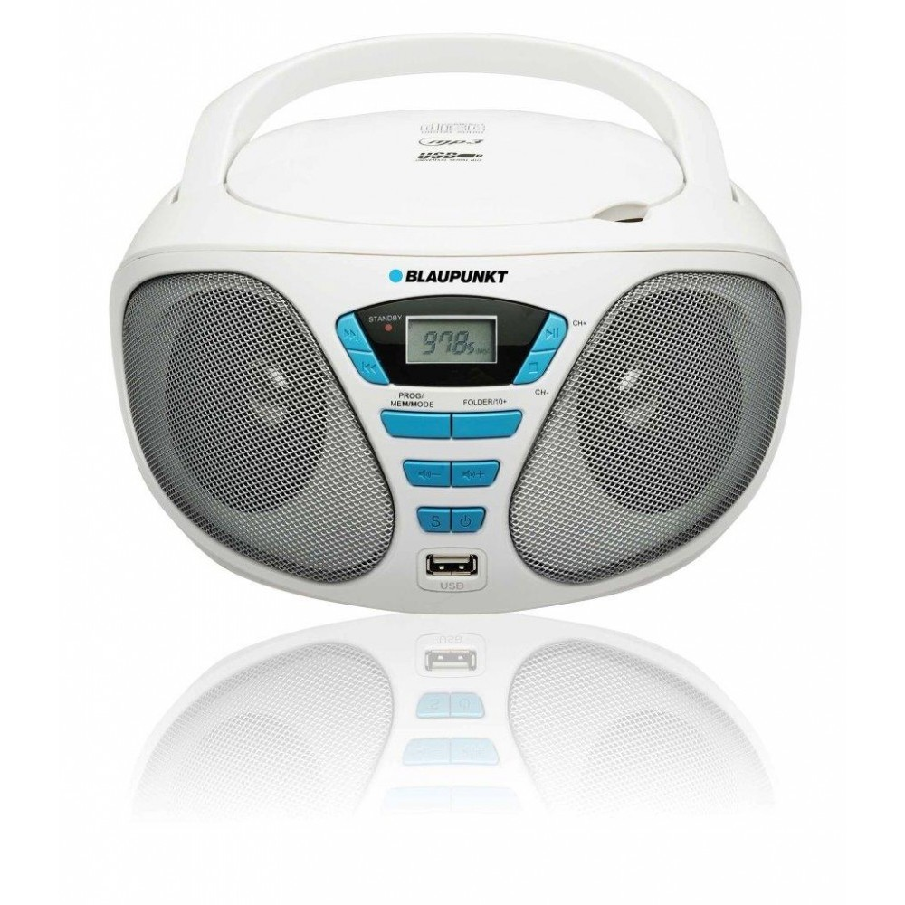 microsistem audio Boombox BB5WH, Radio FM, CD/MP3/USB/AUX thumbnail