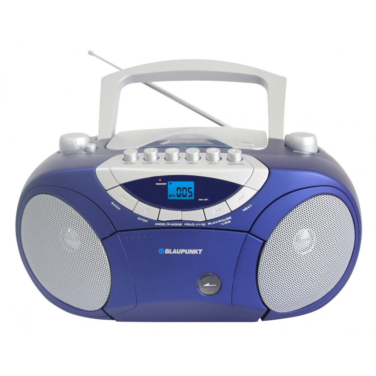 microsistem audio Boombox BB15BL, radio AM-FM, caseta, CD/MP3/USB/AUX thumbnail