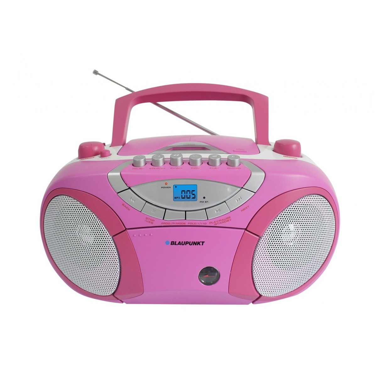 microsistem audio Boombox BB15PK, radio AM-FM, caseta, CD/MP3/USB/AUX thumbnail