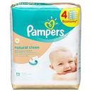 PAMPERS Servetele umede Natural Clean quattro pack 256 buc
