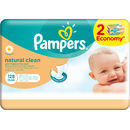 PAMPERS Servetele umede Naturally Clean Duo 2*64buc