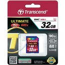 Card memorie Transcend TS32GSDHC10U1, SDHC 32GB Class10 UHS-I