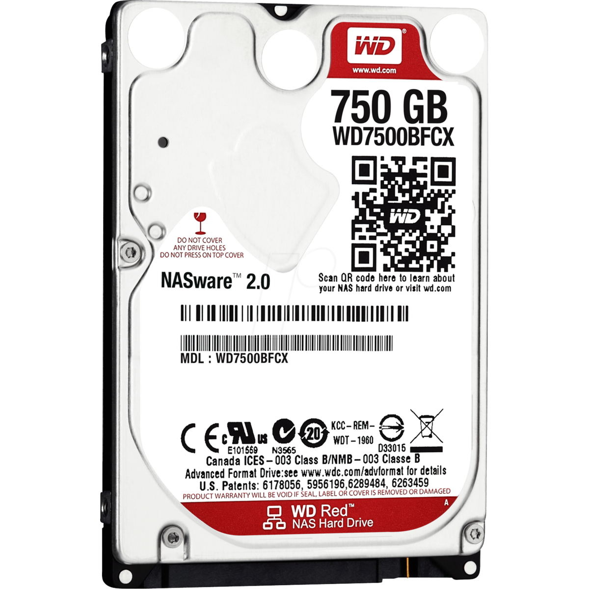 HDD Laptop WD7500BFCX Red, 750GB 2.5 inch, SATA 3 thumbnail