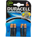 DURACELL Baterie Turbo Max AAA LR03 4buc