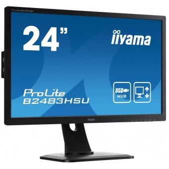Monitor LED Prolite B2483HSU-B1DP, 24 inch, 1920 x 1080 Full HD, negru Iiyama