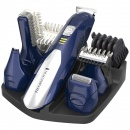 Aparat de tuns Remington Set de ingrijire personala All In One Kit PG6045, 5 capete,  Acumulator,  Albastru/Argintiu
