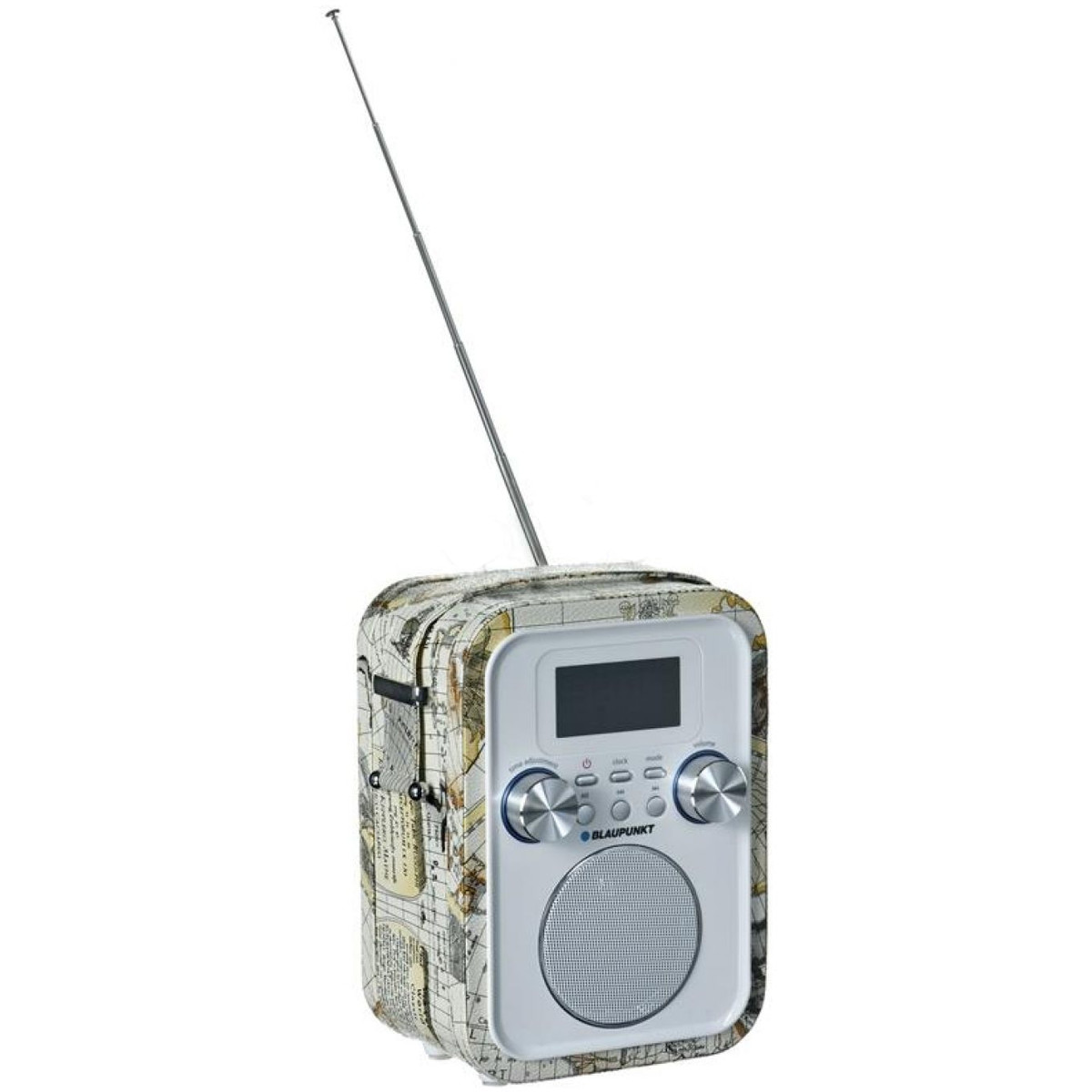 Portable Radio PP20MP, FM PLL SD/USB/AUX with battery, white