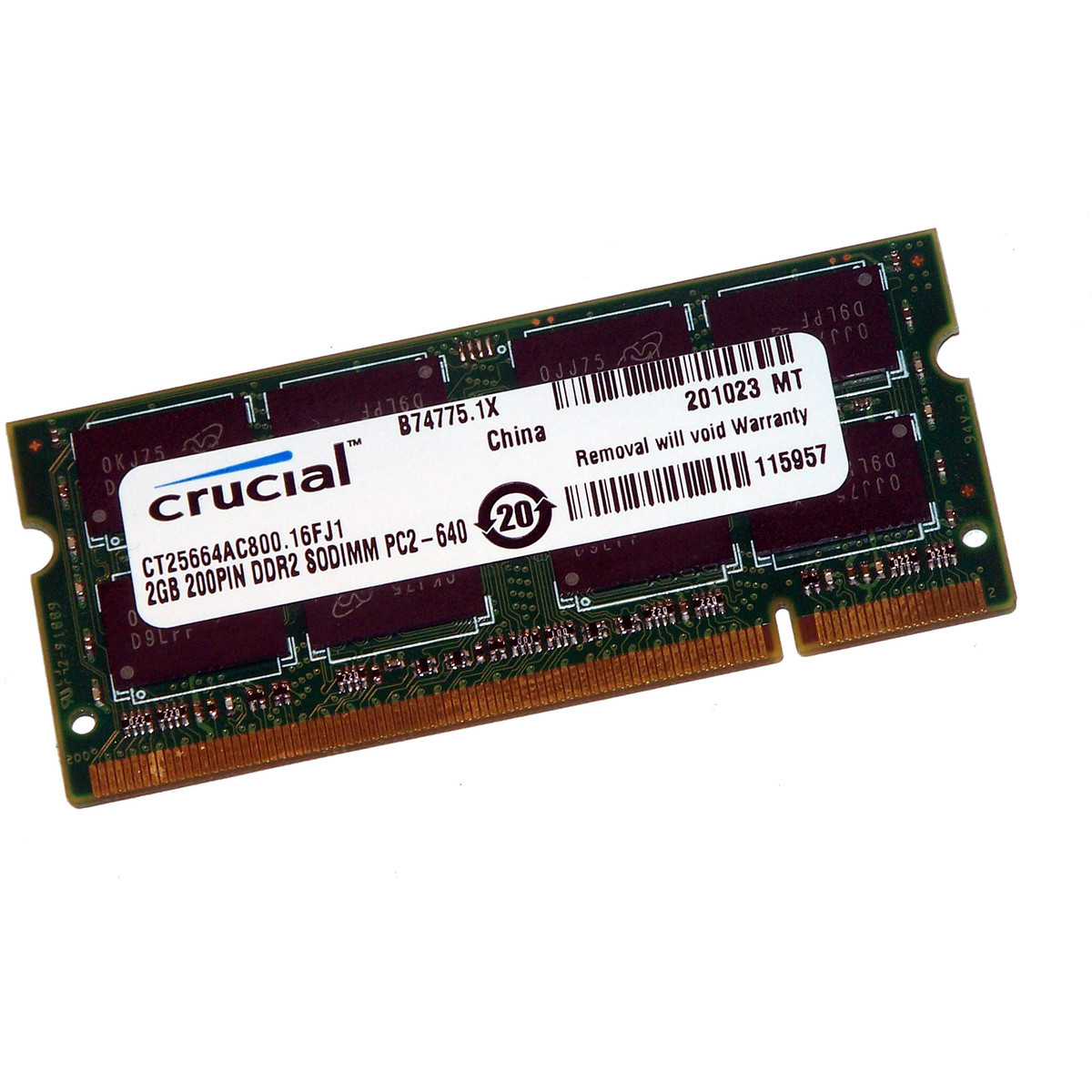 Memorie laptop CT25664AC800 , SODIMM, 2 GB DDR2, 800 MHz, CL 6, thumbnail