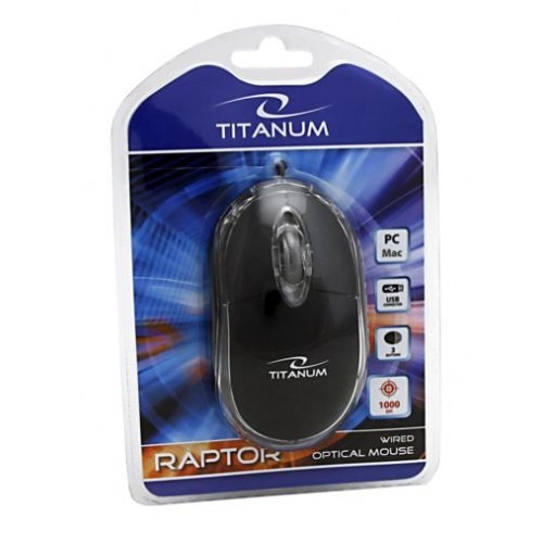 Mouse RAPTOR 3D TM102K, USB, 1000 dpi, Negru