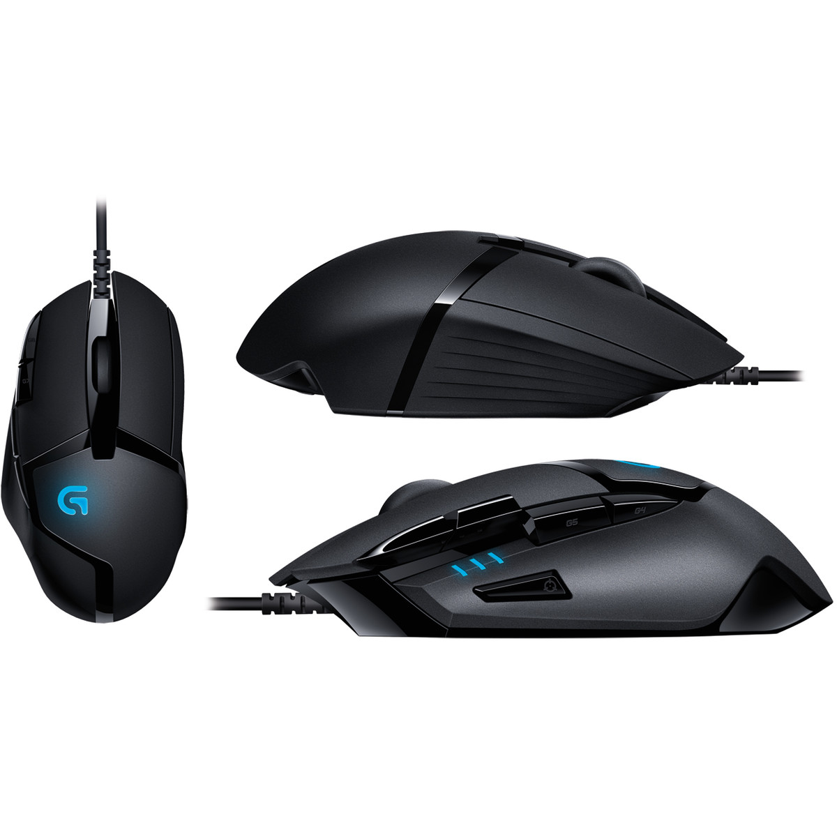 Mouse G402 Hyperion Fury, optic, USB, 4000 dpi, negru