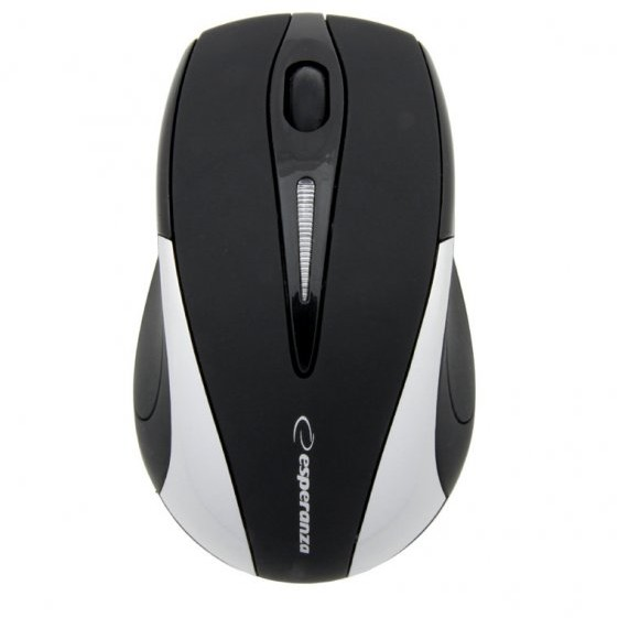 Mouse Antares, optic, wireless, 1000 dpi, 2.4 GHz, negru/ argintiu