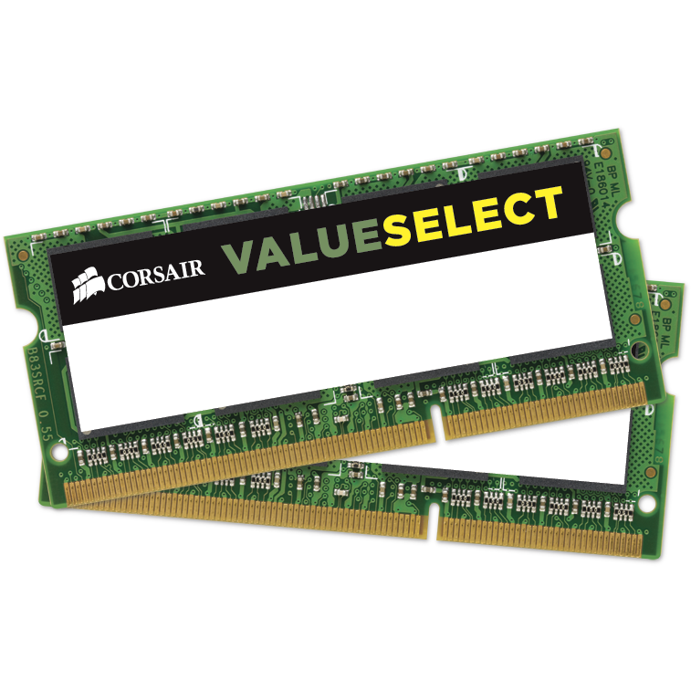 Memorie laptop Memorie RAM Value Select, SODIMM, DDR3, 2x8 GB, 1600 MHz, CL11, kit
