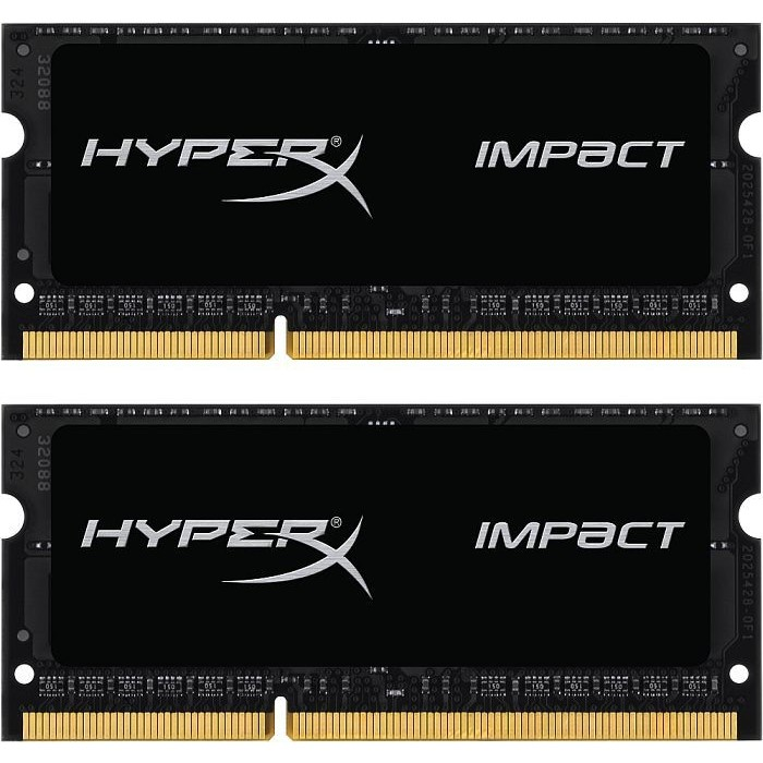 Memorie laptop Memorie RAM HyperX Impact, DDR3, SODIMM, 2x8 GB, 1866 MHz, CL11, 1.35V, unbuffered