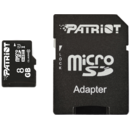 Card memorie Patriot micro SD, 8 GB, clasa 10+Adaptor SD