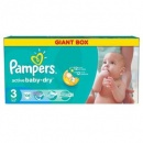PAMPERS Scutece Active Baby 3 Giant Pack, 108 bucati